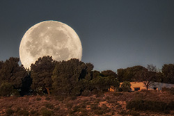 Supermoon at La Muela
