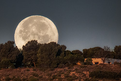 Super moon in La muela