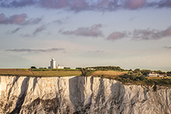 Cliffs of Dover lighthouse